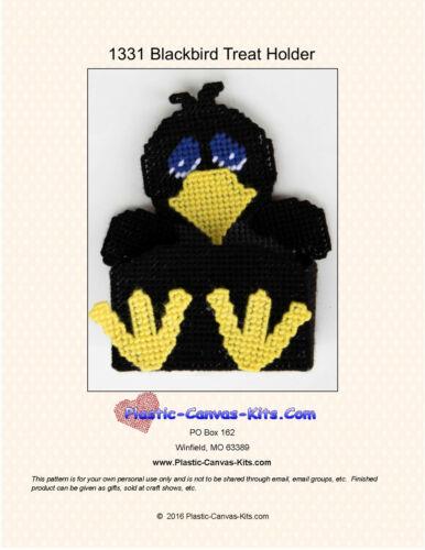 Plastic Canvas Pattern or Kit Blackbird Treat Holder