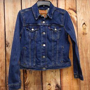 New-Levi-039-s-Womens-29945-Dark-Light-Blue-Denim-Classic-Trucker-Jean-Jacket-XS-2XL