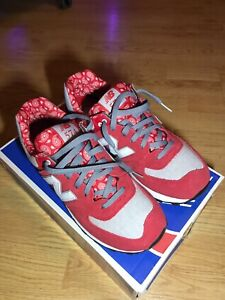 New Balance 574 Red Suede Paisley Pack