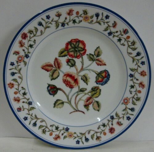 """Mottahedeh COUNTRY STITCH  10-3//4/"""" Dinner Plate CHOICE FLORAL SCENE"""