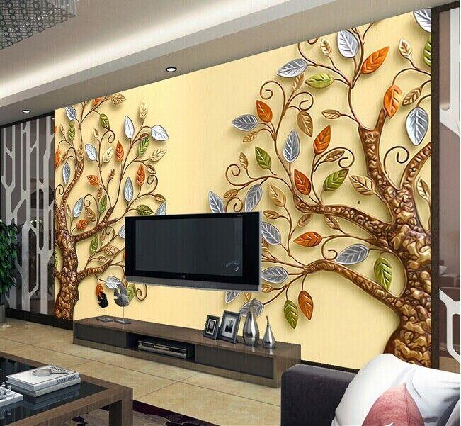 3D Zwei Bäume 99 Tapete Wandgemälde Tapete Tapeten Bild Familie DE