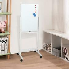 Dry Erase Stand Magnetic Double Sided Whiteboard With Wheels Business 24 X 47