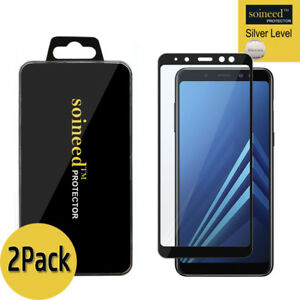 2Pack-SOINEED-Samsung-Galaxy-A8-2018-6-0-034-FULL-COVER-Tempered-Glass-Protector