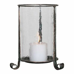 Image Is Loading Water Gl Hurricane Candle Holder 14 034 Curled
