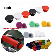 1 Pair Bicycle Bike Aluminum Handlebar Grip End Plug Handle Bar End Caps Q5S4