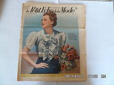 LE PETIT ECHO DE LA MODE N°22 28/05/1939 BLOUSES POUR L'ETE     K39