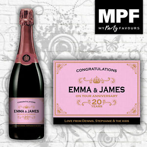 Personalised-Champagne-Prosecco-Bottle-Label-Perfect-Anniversary-Gift-Rose