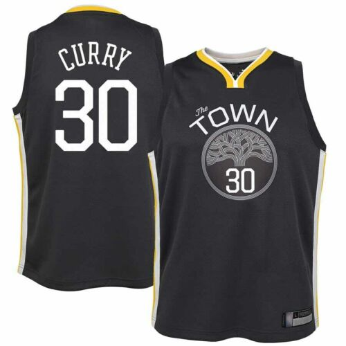 Mens Warriors Stephen Curry 30 The Town Swingman Basketball Jersey Youth Vest