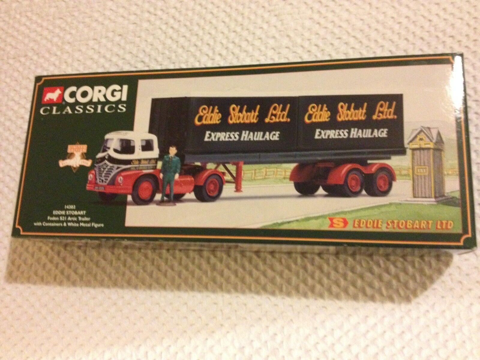 Corgi Classics- Eddie Stobart 14303 - Foden S21 Artic Trailer Containers Figure