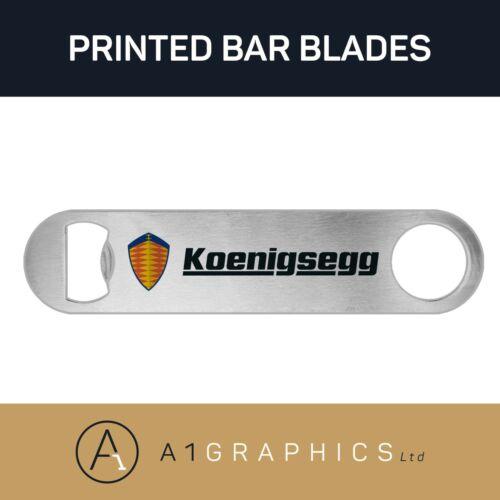 Koenigsegg Bottle Opener Printed Stainless Steel Bar Blade