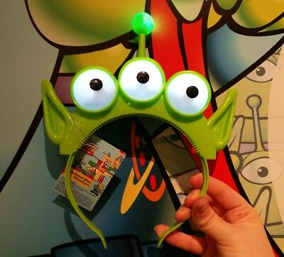 3bd120d74 Disney Parks Pixar Fest Toy Story Little Green Men Alien Light Up Ears -  Adult | eBay