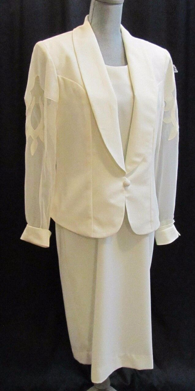 Caron Chicago formal evening Mother of the bride gown jacket Size 12 NWT