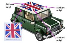 Custom LEGO 10242 Mini Cooper Union Jack stickers MKVII MK7