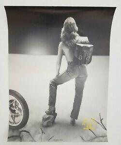 Vintage Poster Harley Davidson 1990's Willie & Max Saddle Bags Girl