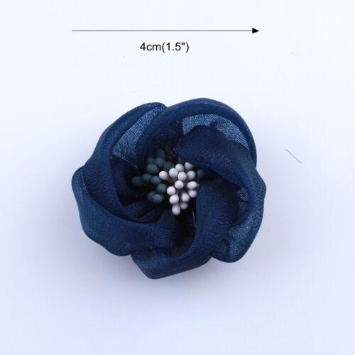 10PCS 4CM High Quality Mini Silk Flower With Stamen Make Girls