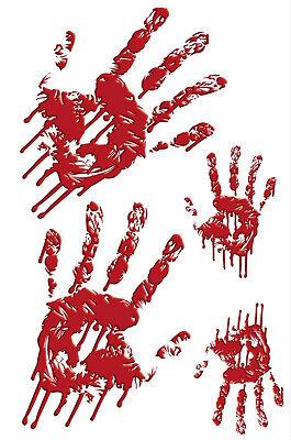 RoomMates Wandaufkleber Wandsticker Halloween Blutiger Handabdruck