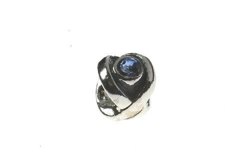 European Bead Blauen Augen Strass Silberfarbig NEU10-25