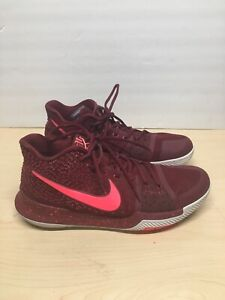 050b9008b8cf Nike Kyrie 3 III Warning Sneakers Shoes Hot Punch Red 852395-681 ...