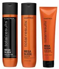 Matrix NEW Total Results Mega Sleek Shampoo and Conditioner 300ml + Blow Down