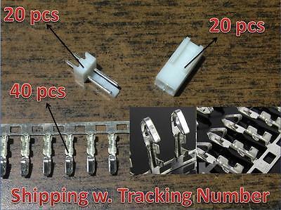 20 sets KF2510-2P 2.54mm Pin Header+Terminal+Housing Connector Kits