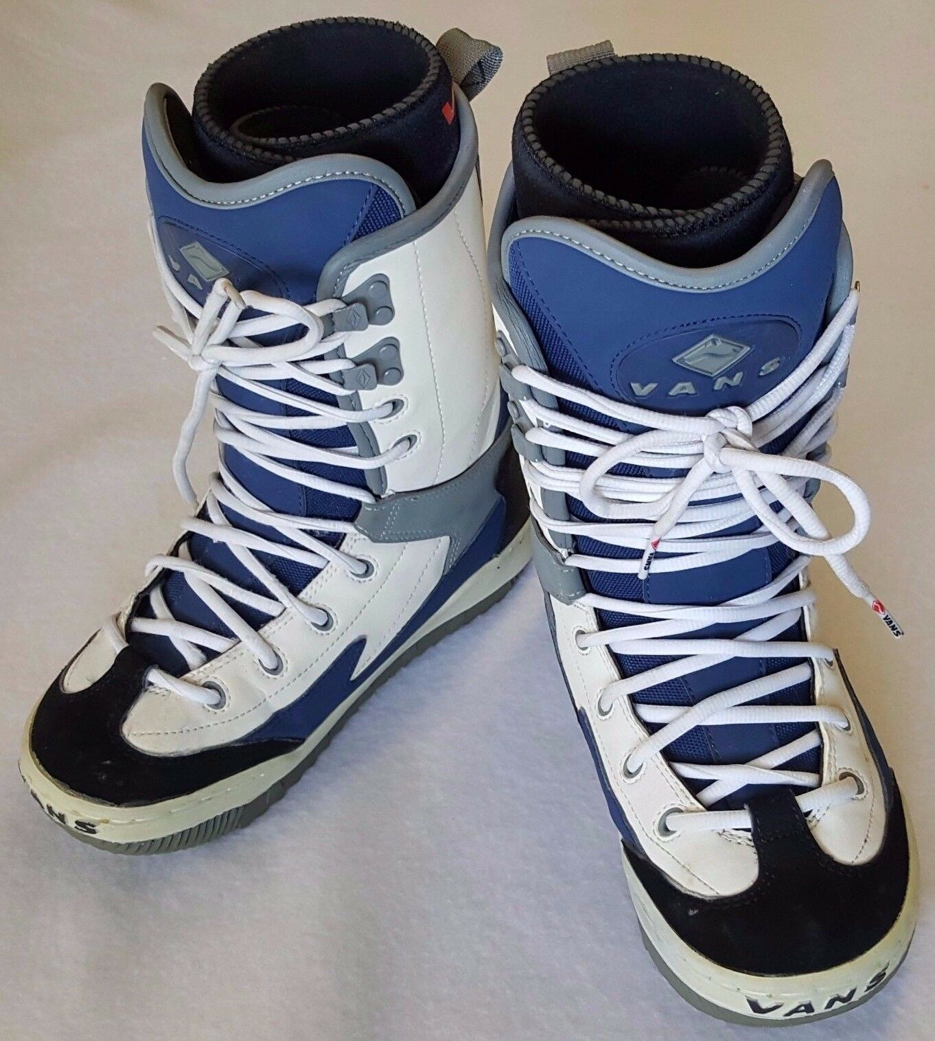 Vans Dino 2 Snowboard Boots Womens Size US 7 bluee White Lace Up with Wrap Liner