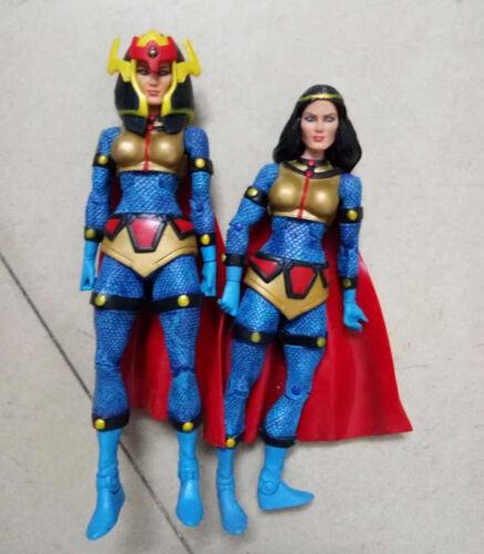 "lot 2 DC Universe Classics Atom Smasher Wave 7 Big Barda action figure loose 6/"""