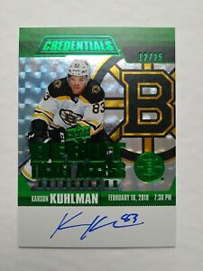 2019-20-UD-Credentials-Karson-Kuhlman-Green-Debut-Ticket-Access-Auto-12-25