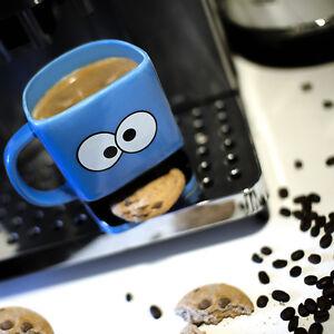Cookie Monster Mug Biscuit Pocket Holder Coffee Tea Cup