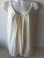 Old Navy Womens Cami Suspended Neck Xxlarge Ivory Linen Blend