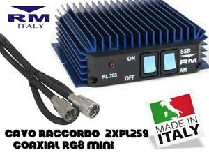 AMPLIFICATORE-LINEARE-CB-100-WATT-AM-FM-SSB-CON-RACCORDO-CAVO-RG8
