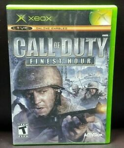 Call-of-Duty-Finest-Hour-Microsoft-Xbox-OG-Rare-Game-Complete-Working-Tested