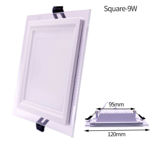 1//10x Dimmable 6W 9W 12W 18W Glass LED Recessed Ceiling Panel Light Driver MKT