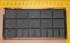 New Listingantique Letterpress Type Spacing Leading Rule Border Wood Tray Case Ca56 3