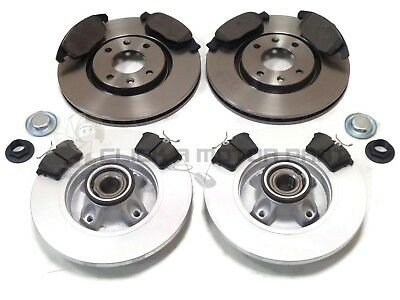 Front Brake Pads Brake Discs Set 283mm Vented Fits Citroën C3 Picasso 1.6 HDI