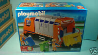 Playmobil 4418 City Life Series Garbage Truck Recycling Mint In Box Garage