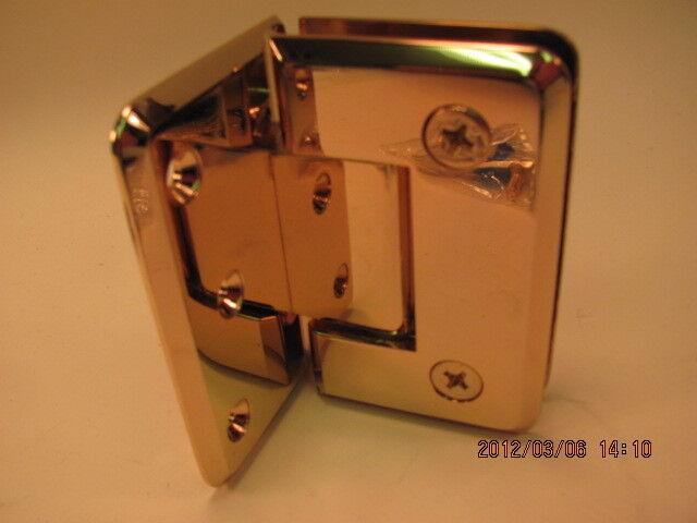 CRL LAURENCE PIN044GP FRAMELESS JUNIOR GENEVA PINNACLE HINGE GOLD PLATE