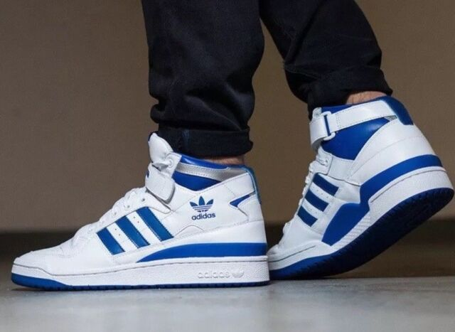 Adidas Originals Forum Mid Refined F37830 WhiteRoyal Blue Men's Basketball Shoe