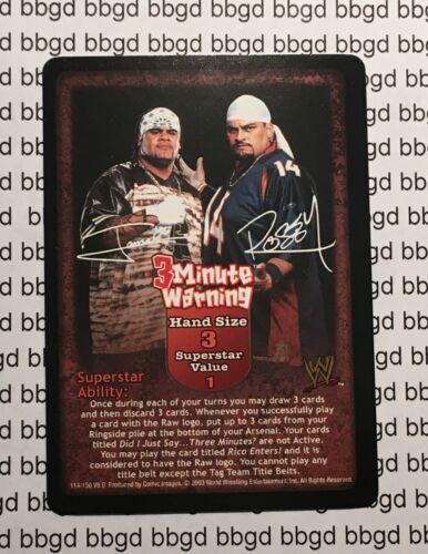 WWE Raw Deal Velocity 3 MINUTE WARNING Premium Rare Superstar Card