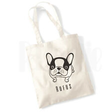 Personalised /'French Bulldog Dog/' Canvas Tote Bag GIFT FOR PET DOG OWNER