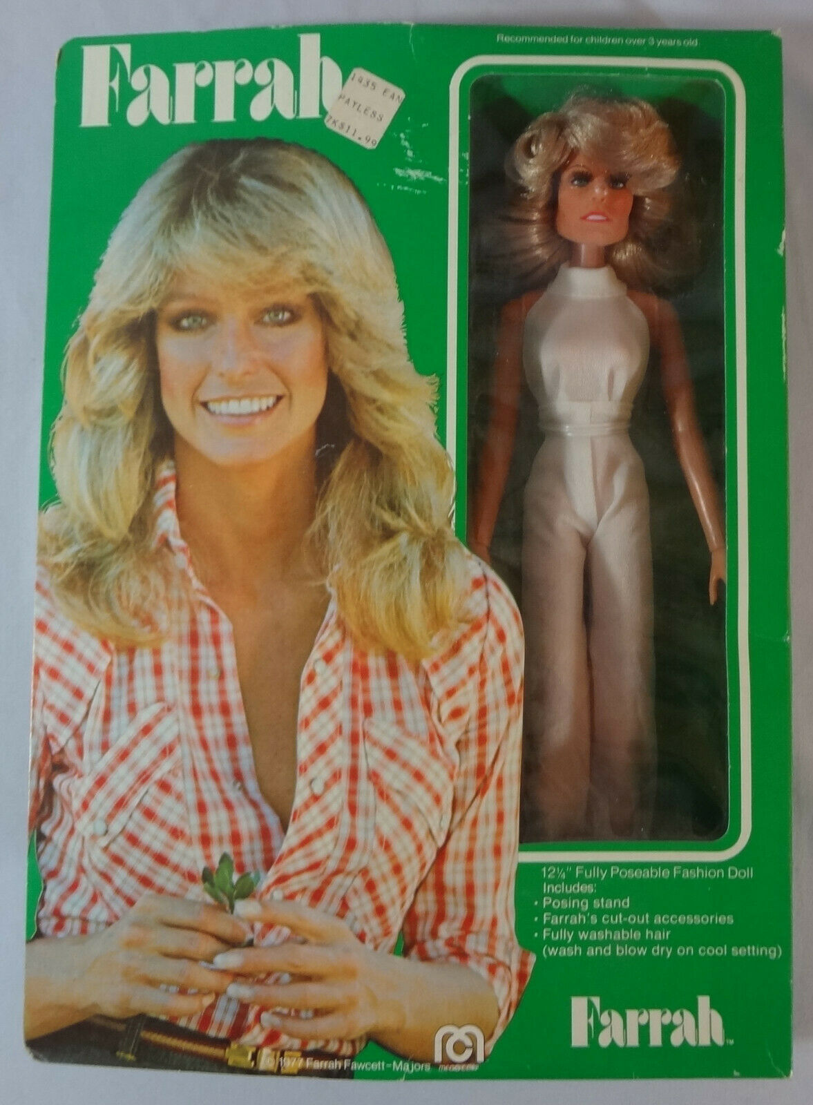 1977 Vintage MEGO Farrah 12 1 4  Doll Farrah Fawcett Charlie's Angels TV Star