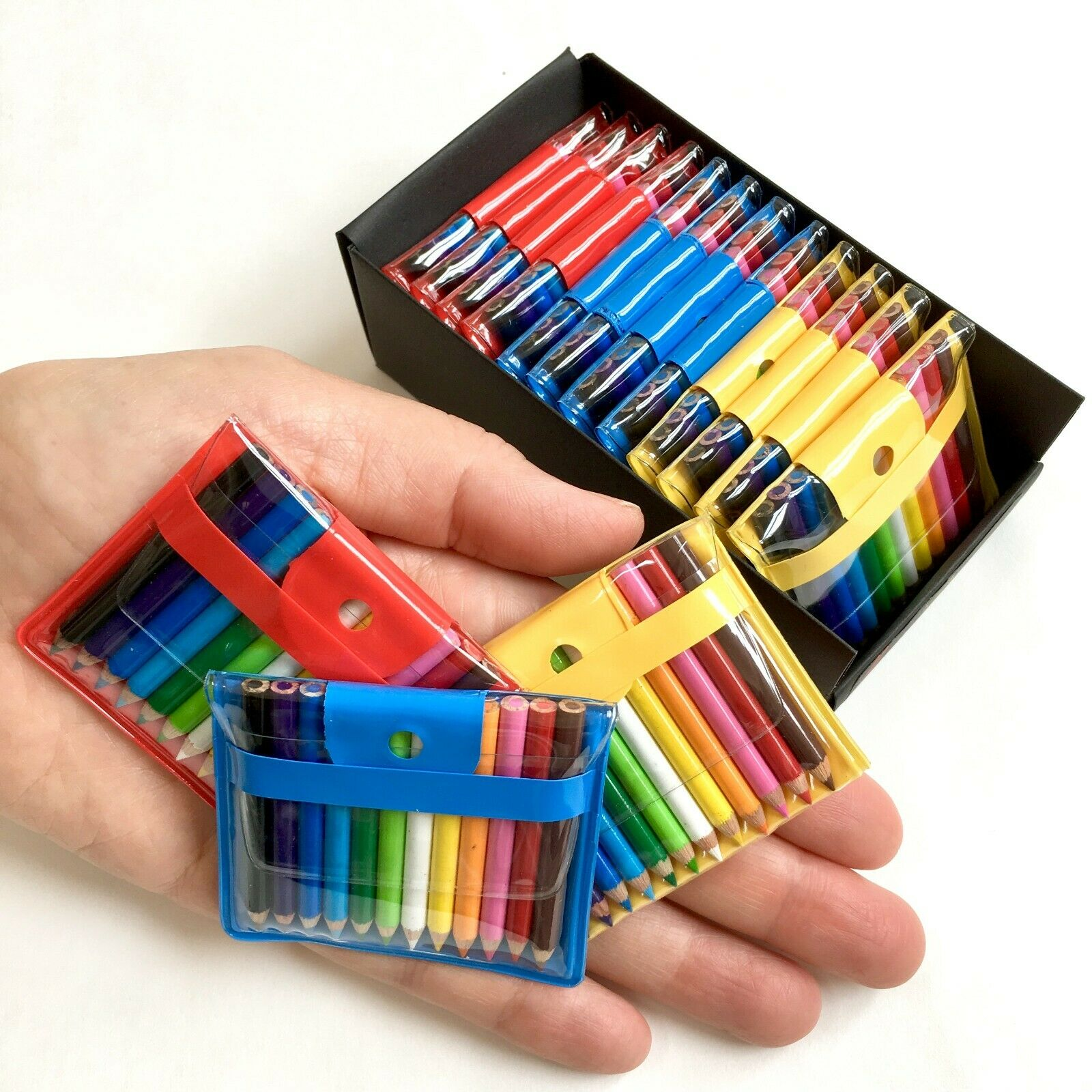 Be-Goody 12 Japanese Miniature Colored Pencils in Pouch-RED-ONE POUCH SET.
