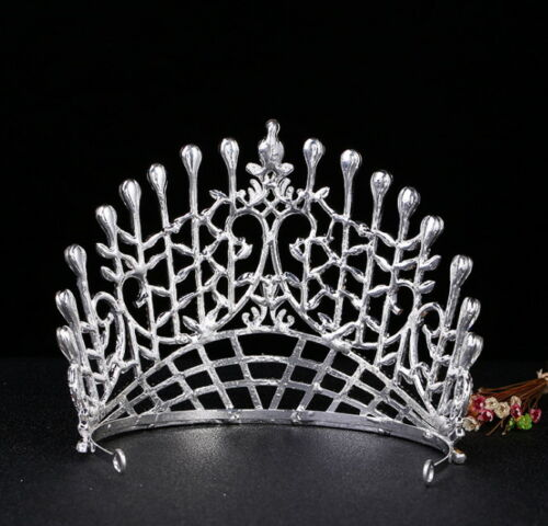 12cm High Large Full Crystal Adult Wedding Bridal Party Pageant Prom Tiara Crown