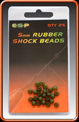 50X SHOCK IMPACT RUBBER STOP BEADS GREY//GREEN RIG 8MM