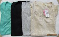 Chenault Clothing Lace Trim Top (assorted Colors) Women's Sz S-xxl Msrp$68