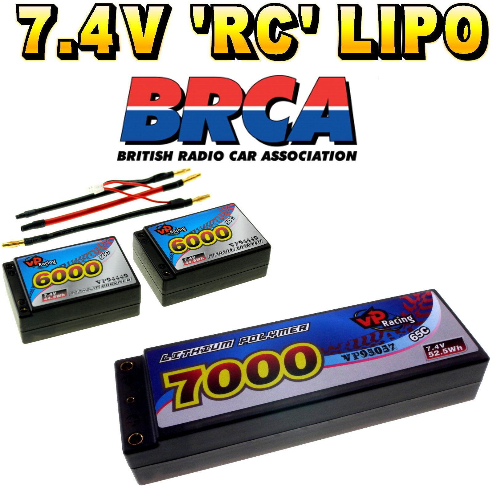 7.4v 3300mah - 7000mah 2s LiPo HARD CASE RC auto batteria fino a 65c BRC