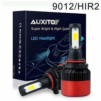 2X AUXITO 9012 HIR2 LED Headlight Bulbs Bright Kit High//Low Beam 6500K 9000LM D