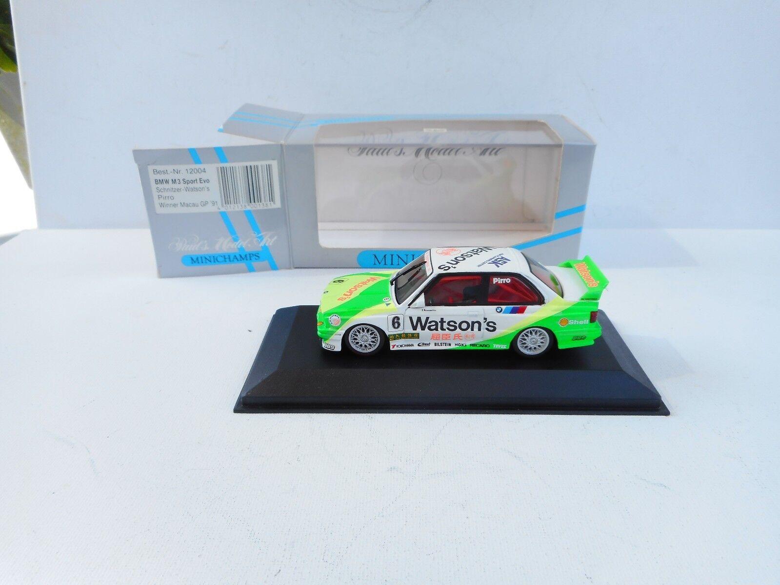 BMW M3 Sport EVO Schnitzer-Watson's Pirro 1 43 Minichamps 12004   Neu OVP