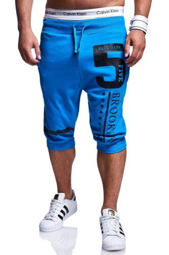 Shorts uomo Jogging Pantaloni Allenamento Pantaloni breve Capri Pantaloni Sweat-BERMUDA NUOVO