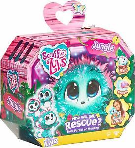 Scruff-a-Luvs-639JUN-Jungle-Surprise-Rescue-Pet-Soft-Toy-Lion-Parrot-or-Monkey