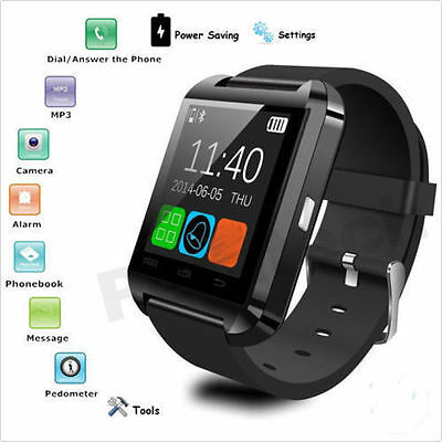 Bluetooth Smart Wrist Watch Phone Mate for iPhone IOS Android Samsung HTC Colors
